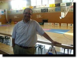 Antoni Ferraz, al Palau d'Esports