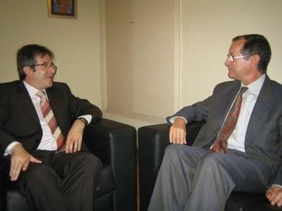 Ausàs, amb l'ambaixador de Portugal a Andorra