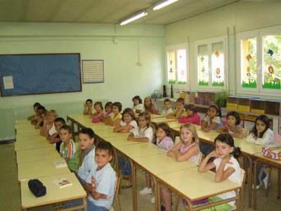 Inici curs escolar 2007 - Classe del CEIP Pau Claris