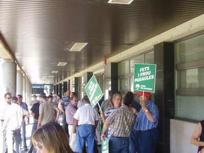 Concentració d'Unió de Pagesos