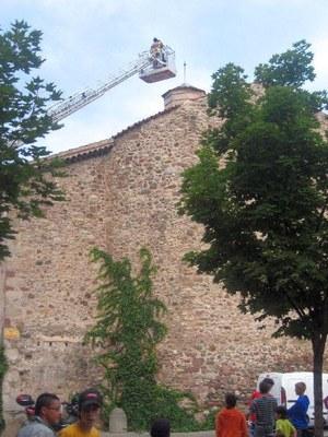 Intervenció dels bombers a l'Església de Sant Agustí 2 (Tatiana Gallardo)