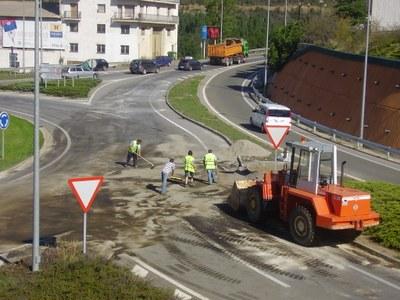 Accident a la rotonda de la Seu a Andorra