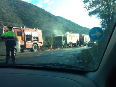 Camió Incendiat