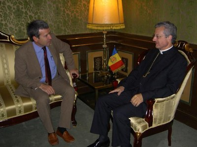 Reunió entre Joan-Enric Vives i Francesc Boya