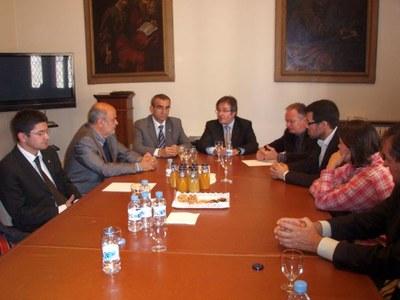 Visita president de la Diputació, Jaume Gilabert