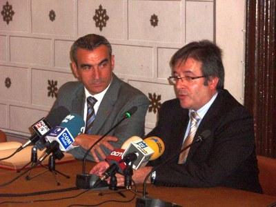 Visita president de la Diputació, Jaume Gilabert (amb Ausàs)