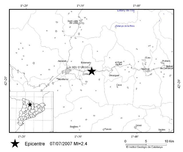 Mapa Sísmic Alàs