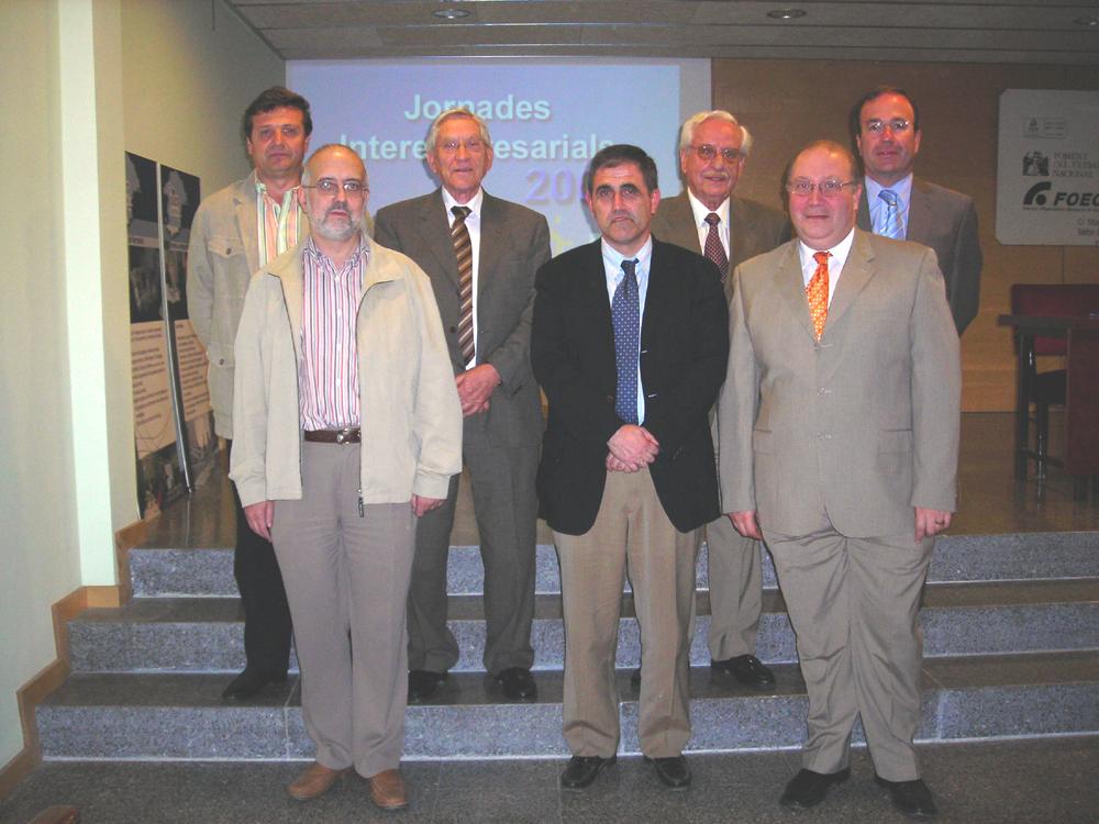 Foto dels presidents de les associacions d'empresaris del Pirineu Oriental