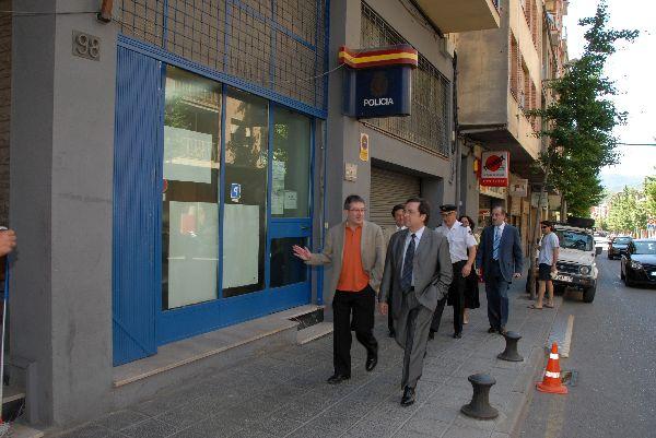 Visita de Joan Rangel a la Comissaria de la Policia Nacional