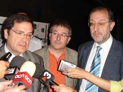 Visita a la Seu del delegat del Govern a Catalunya, Joan Rangel
