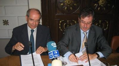 Església Immaculada - Signatura conveni Ausàs-Ganyet